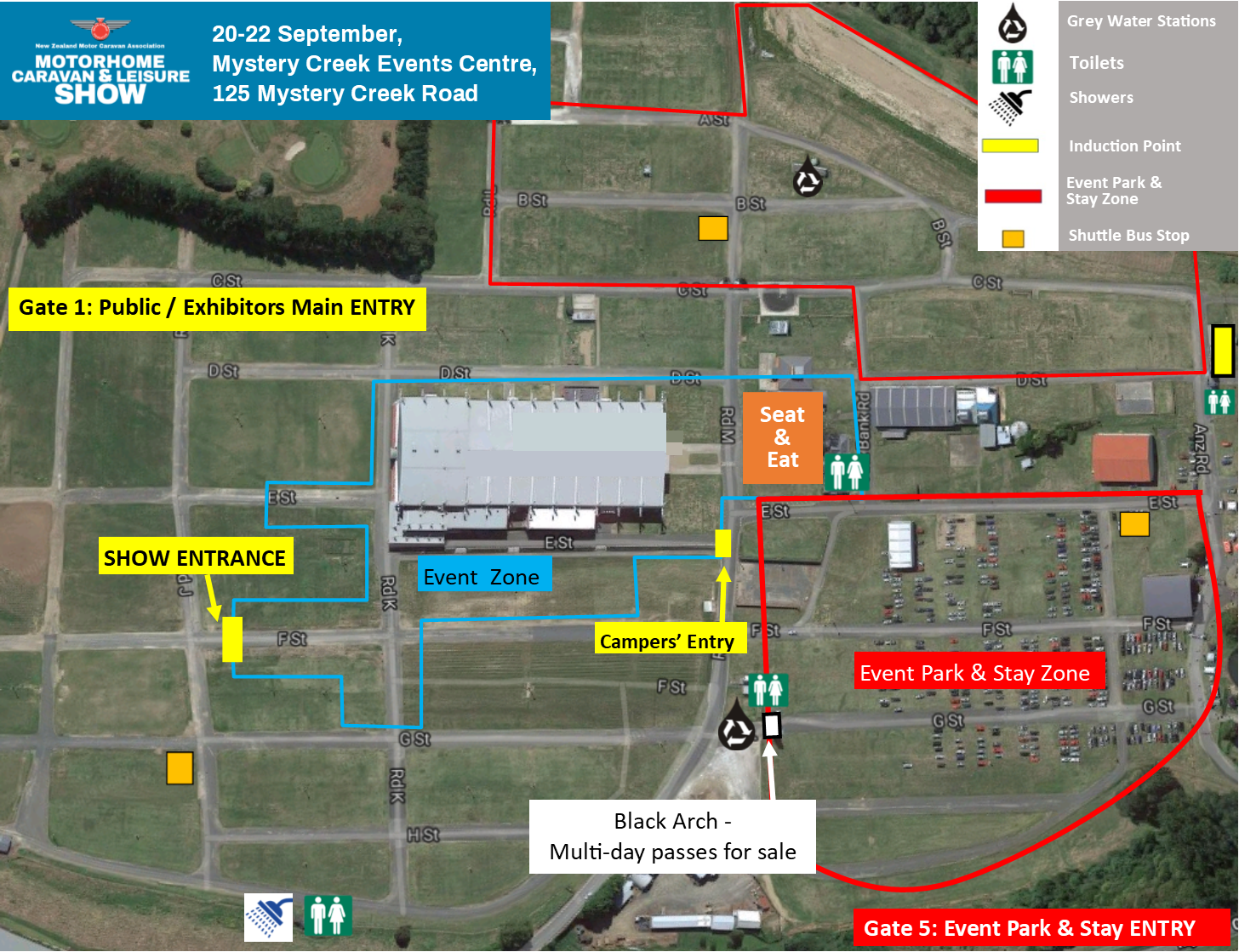 Event Park & Stay Map